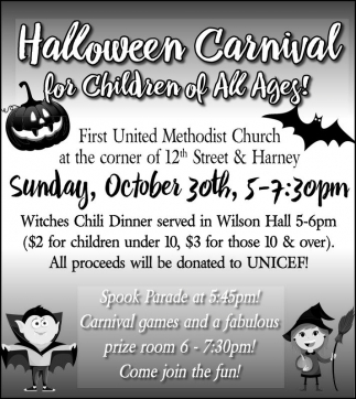 Halloween Carnival for Children of All Ages!
