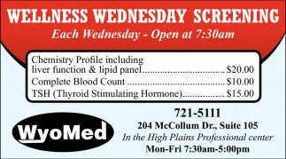 Wellness Wednesday Screening