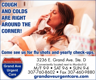 Cough and Colds Are Right Around the Corner