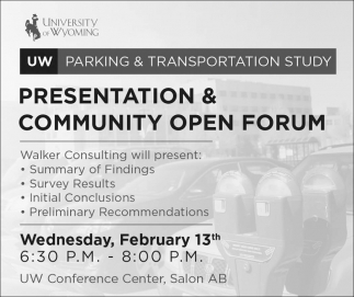 Presentation & Community Open Forum