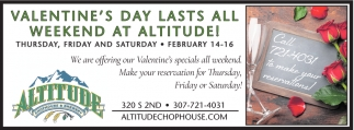Valentine's Day Lasts All Weekend at Altitude