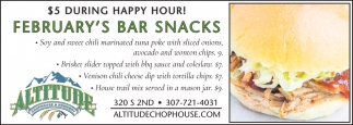 February's Bar Snacks