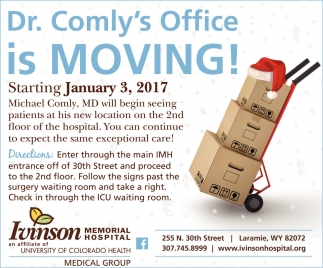 Dr. Comly's Office is MOVING!
