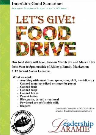 Let's Give! Food Drive