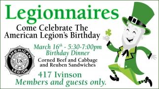 Come Celebrate The American Legion's Birthday