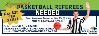Basketball Referees Needed