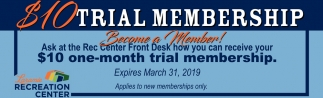 $10 Trial Membership
