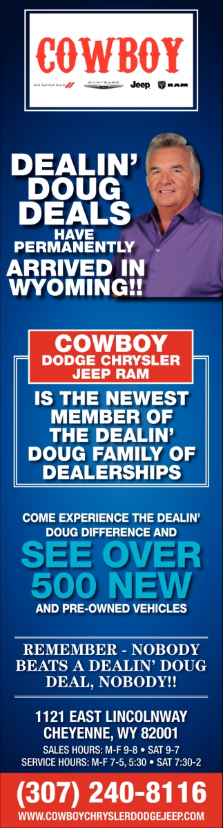 Come Experience the Dealin' Doug Difference and See Over 500 New and Pre-Owned Vehicles
