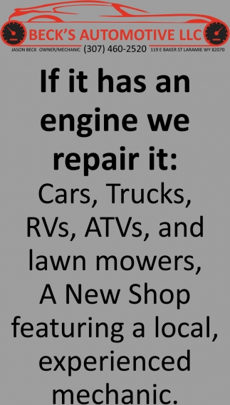 If it Has an Engine We Repair it