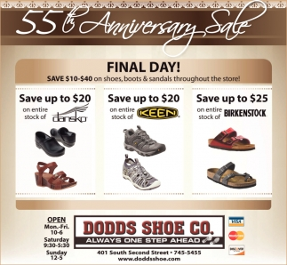 55th Anniversary Sale