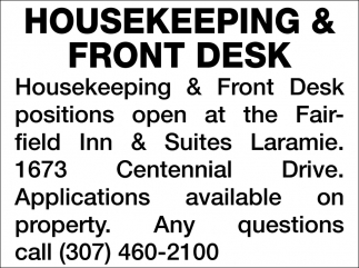 Housekeeping & Front Desk