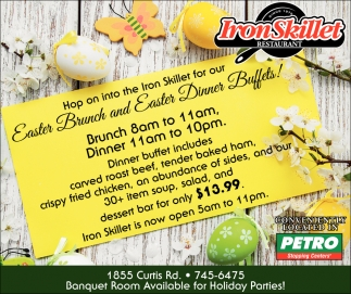 Easter Brunch and Easter Dinner Buffets