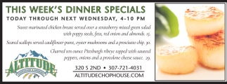 This Week's Dinner Specials