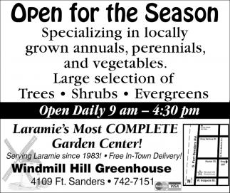 Open for the Season