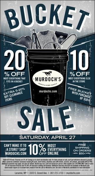Bucket Sale