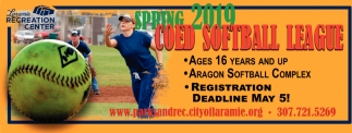 Spring 2019 Coed Softball League
