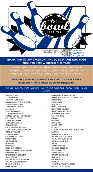 The 6th Annual Bowl for LYCC