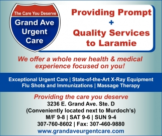 Providing Prompt + Quality Services to Laramie