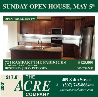Saturday Open House, May 5th