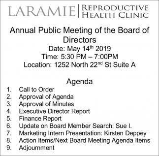 Annual Public Meeting