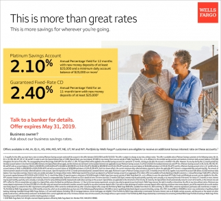 This is More than Great Rates, Wells Fargo, Laramie, WY