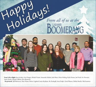 From all of us at the Laramie Boomerang