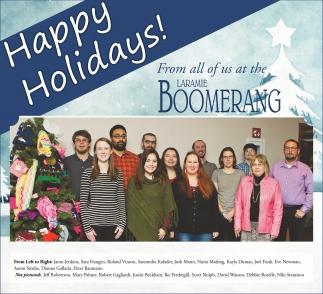 From all of us at the Laramie Boomerang