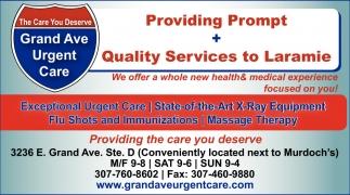 Providing Prompt + Quality Services to Laramie