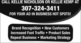 Call Kellie Nicholson or Kellie Kempt