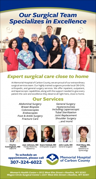 Our Surgical Team Specializes in Excellence