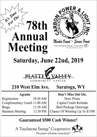 78th Annual Meeting