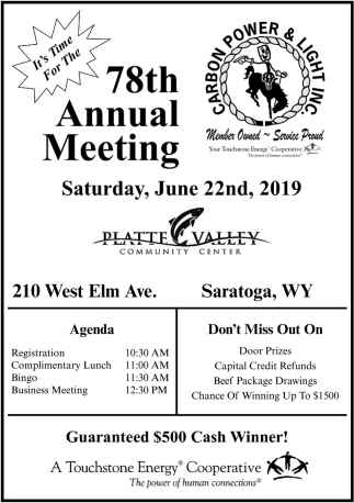 78th Annual Meeting