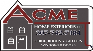 Siding, Roofing, Gutters.