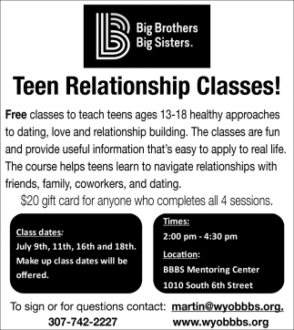 Teen Relationship Classes!