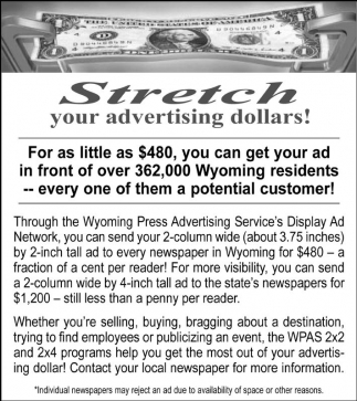 Stretch your advertising dollars