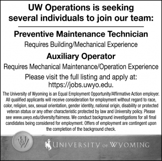 Prevntive Maintenance Technician