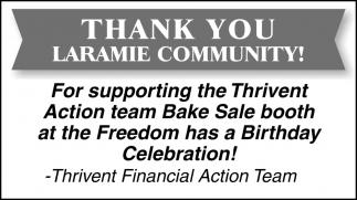 Thank You Laramie Community