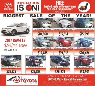Don't miss the biggest sale of the year!