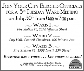 Join your City Elected Officials