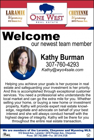 Welcome Kathy Burman