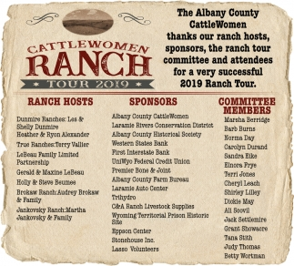 Thanks Our Ranch Hosts