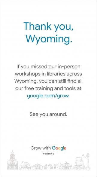 Thank you, Wyoming