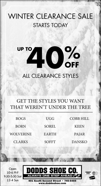 Winter Clearance Sale Starts Today!
