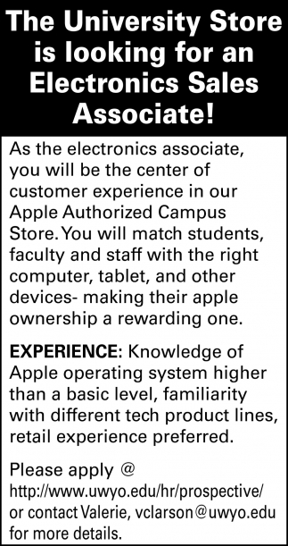 Electronic Sales Associate