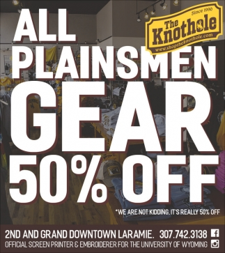 All Plainsmen Gear 50% Off!