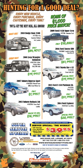 Hunting For A Good Deal White S University Ford Laramie Wy