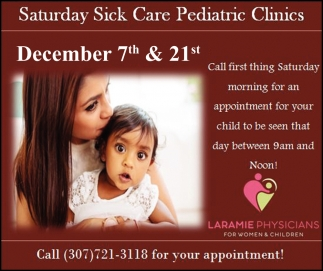 Saturday Sick Care Pediatric Clinics