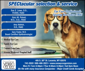 Spectacular Selection & Service