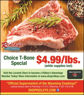 Choice T-Bone Special
