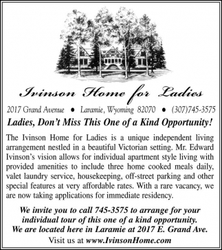 Ladies, Don't Miss This One of a Kind Opportunity